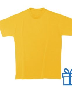 T-shirt unisex rond zware kwaliteit XXL geel bedrukken