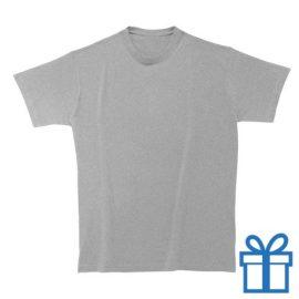 T-shirt unisex rond zware kwaliteit XXL grijs bedrukken