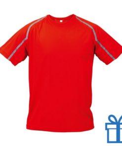 T-shirt unisex sport L rood bedrukken