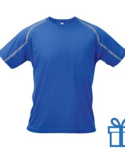 T-shirt unisex sport M blauw bedrukken