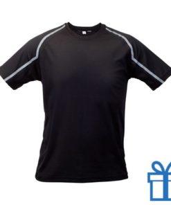 T-shirt unisex sport S zwart bedrukken