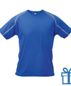 T-shirt unisex sport XXL blauw bedrukken