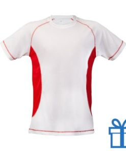 T-shirt unisex sport budget L rood bedrukken