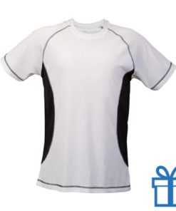 T-shirt unisex sport budget L zwart bedrukken