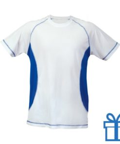 T-shirt unisex sport budget M blauw bedrukken