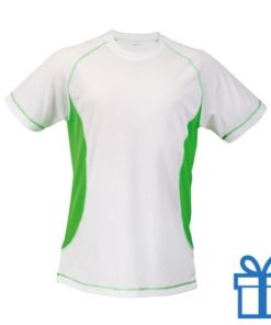 T-shirt unisex sport budget M groen bedrukken