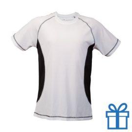 T-shirt unisex sport budget S zwart bedrukken