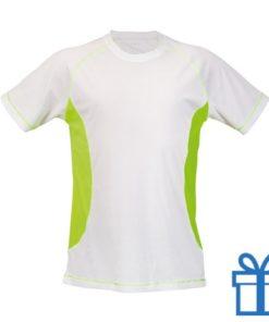 T-shirt unisex sport budget XL geel bedrukken