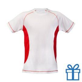T-shirt unisex sport budget XL rood bedrukken