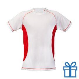 T-shirt unisex sport budget XXL rood bedrukken