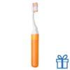 Tandenborstel opvouwbaar goedkoop oranje bedrukken