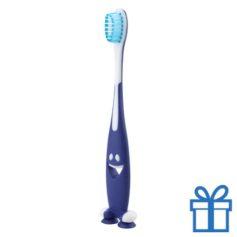 Tandenborstel plastic blauw bedrukken