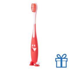 Tandenborstel plastic rood bedrukken