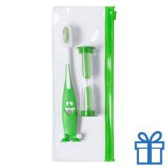 Tandenborstel set kids groen bedrukken