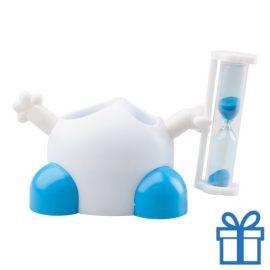Tandenborstelhouder zandloper blauw bedrukken