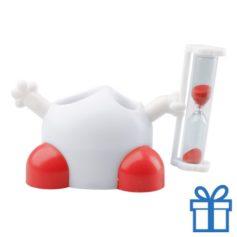 Tandenborstelhouder zandloper rood bedrukken