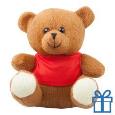 Teddybeer t-shirt bruin bedrukken