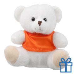 Teddybeer t-shirt wit bedrukken