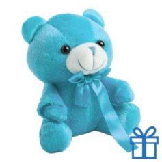 Teddybeertje blauw bedrukken