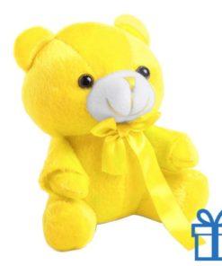 Teddybeertje geel bedrukken