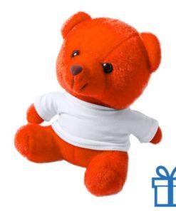 Teddybeertje wit shirt oranje bedrukken