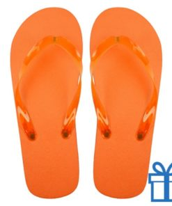 Teenslippers goedkoop unisex oranje 36-38 bedrukken