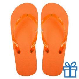 Teenslippers goedkoop unisex oranje 42-44 bedrukken
