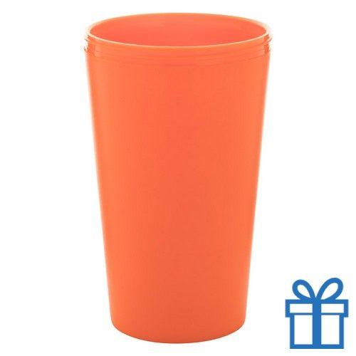 Thermo mok op maat beker oranje bedrukken