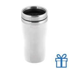Thermobeker metalen frame 250ml wit bedrukken