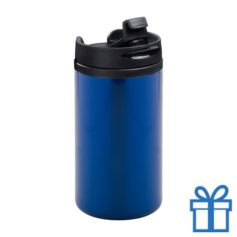 Thermomok RVS 280ml blauw bedrukken