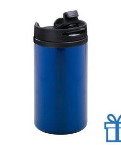 Thermomok RVS 280ml blauw bedrukken