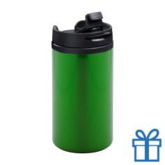 Thermomok RVS 280ml groen bedrukken