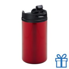 Thermomok RVS 280ml rood bedrukken