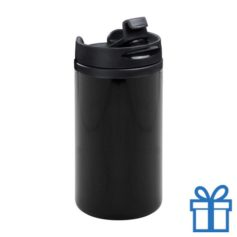 Thermomok RVS 280ml zwart bedrukken
