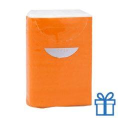 Tissues 3 laags oranje bedrukken