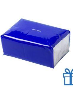 Tissues pack kleur blauw bedrukken