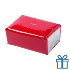Tissues pack kleur rood bedrukken