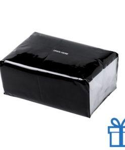 Tissues pack kleur zwart bedrukken