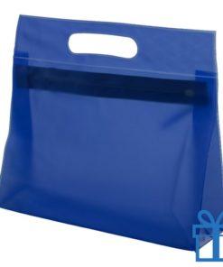 Toilet tas PVC giftbag blauw bedrukken
