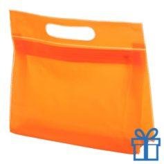 Toilet tas PVC giftbag oranje bedrukken