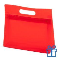 Toilet tas PVC giftbag rood bedrukken