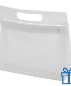 Toilet tas PVC giftbag wit bedrukken