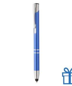 Touch balpen alu luxe blauw bedrukken