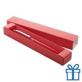 Touch balpen met giftbox rood bedrukken