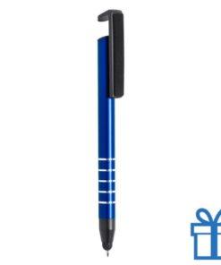 Touch balpen multifunctioneel blauw bedrukken