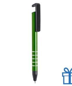 Touch balpen multifunctioneel groen bedrukken