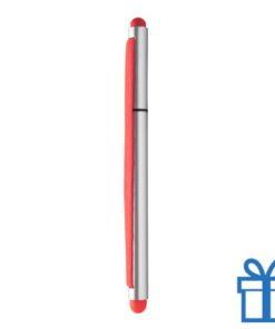 Touchscreen balpen elastiek rood bedrukken