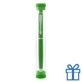 Touchscreen balpen in kokertje groen