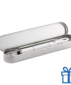 Touchscreen balpen met laser wit bedrukken