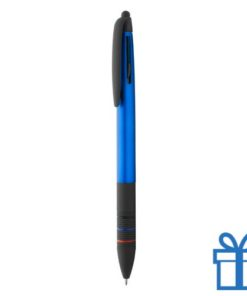 Touchscreen balpen rubber zwarte grip blauw